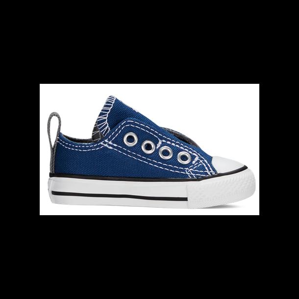 CONVERSE - Sneakers i blå lærred, velcro i siden. (store).