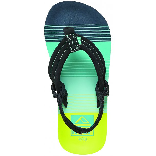 REEF - Klip klap i blå/grønne farver. OBS kun elastik bagpå de to mindste størrelser
