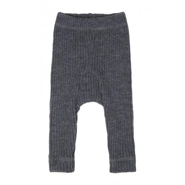 JOHA - Bukser i kraftig grå ribbet blød uld. Basic