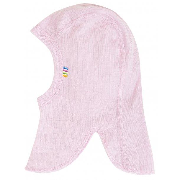JOHA - Elefanthue i dobbeltlags uld i rosa (stærk rosa)