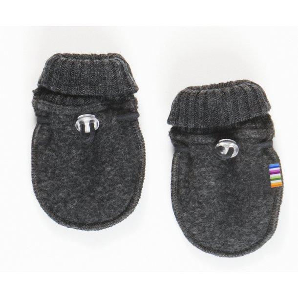JOHA - Luffer i grå uld-fleece