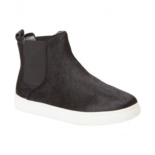 RUGGED GEAR - Slip on støvlet i black pony.