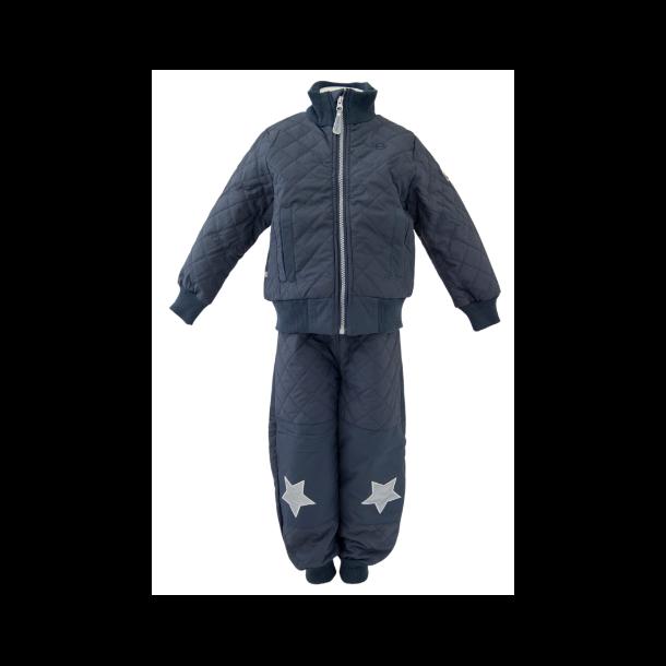 MIKKLINE - Duvet termosæt i Blue nights med fleece i jakken