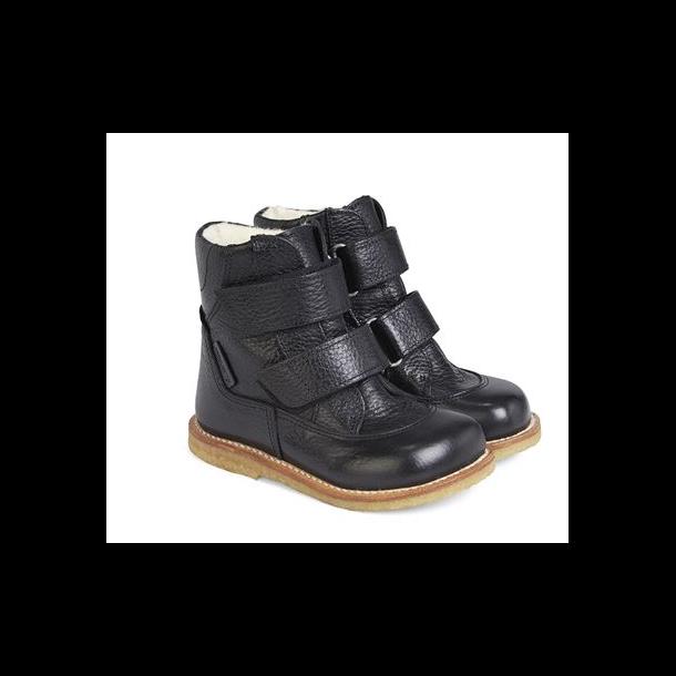 ANGULUS - TEX Støvle med uldfoer i sort. Model 2134