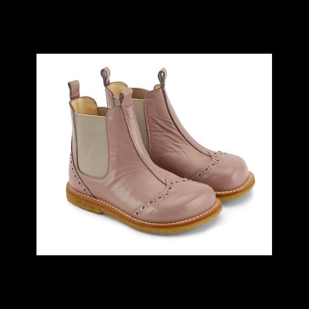 ANGULUS - Chelsea støvle i rosa lak. Model 6320