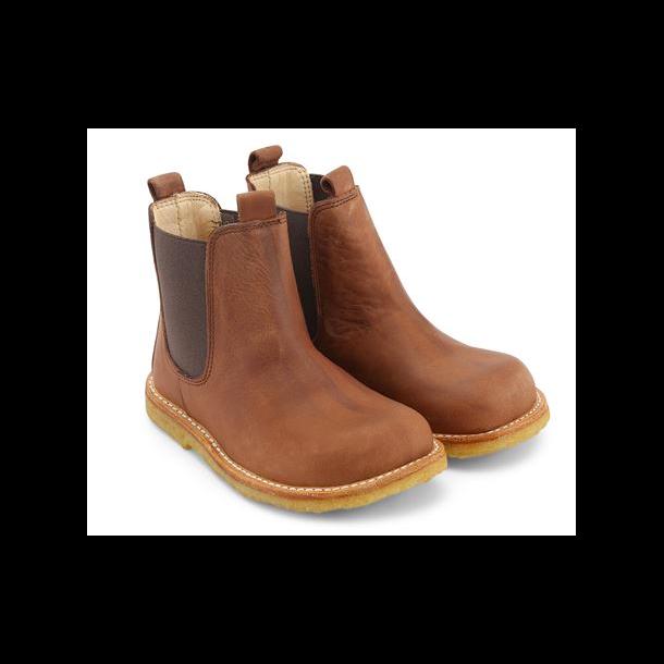 ANGULUS - Chelsea støvle i cognac skind