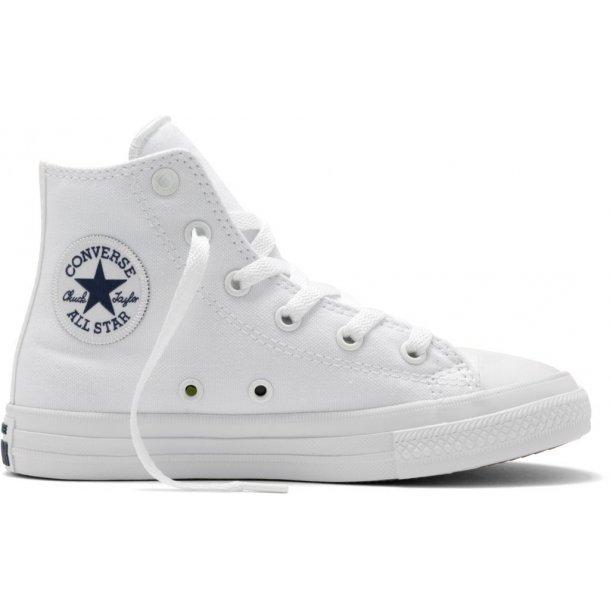 CONVERSE - Hvid basketstøvle med lunar såle (son Nike free).