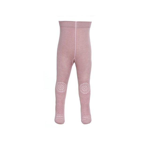 GO BABY GO - Rosa strømpebuks med skridsikker fod og knæ