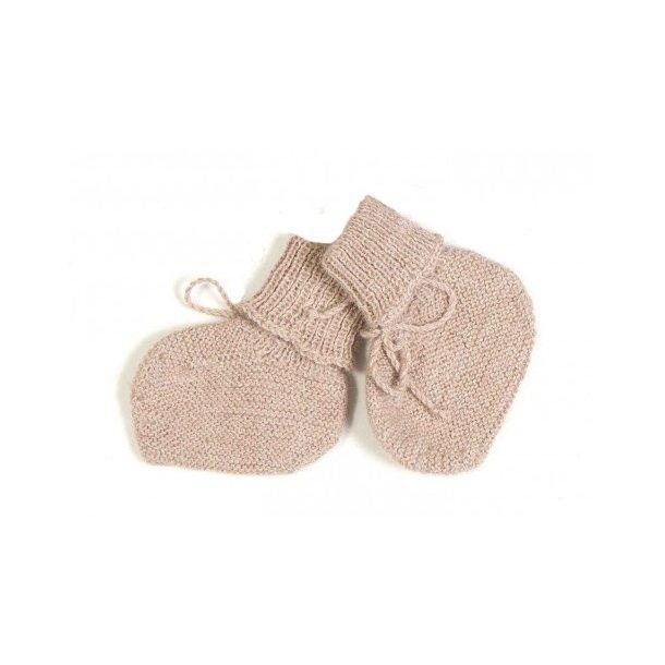 HUTTELIHUT - Babysokker i alpaca uld. Dusty rose..