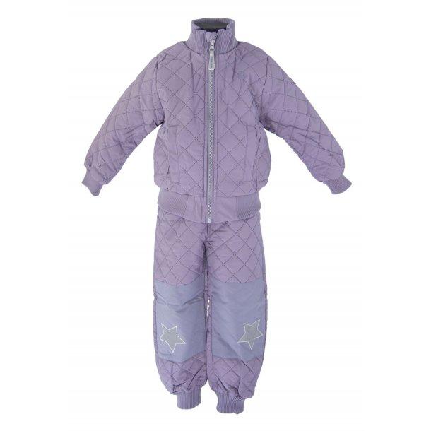 MIKKLINE - Duvet termosæt i Lavender med fleece i jakken..