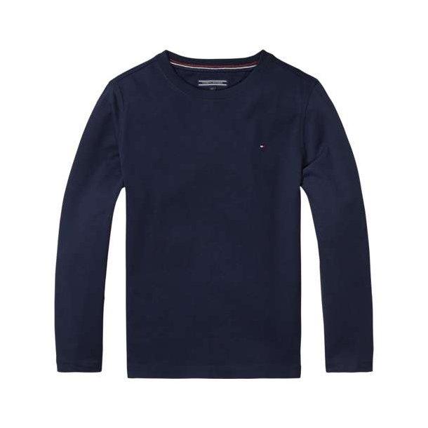 Højmoderne TOMMY HILFIGER - T-shirt langærmet i Navy. BASIC - Bluser - Karl AU-19