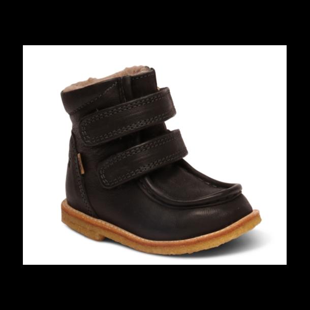 BISGAARD - TEX Støvle med uldfoer og rågummisål i sort
