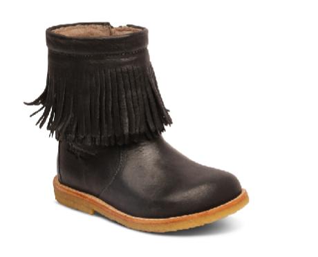BISGAARD Støvle med uldfoer i Støvler sort og TEX Karl frynser gfbYv76y