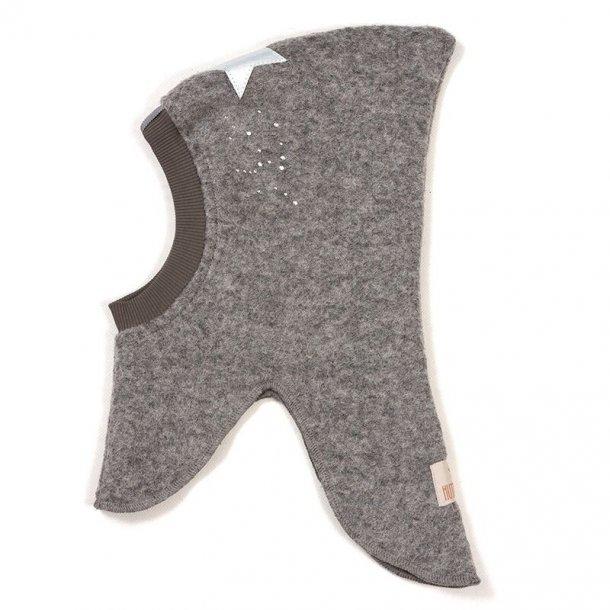 HUTTELIHUT - Elefanthue i Lys grå med silver/stone