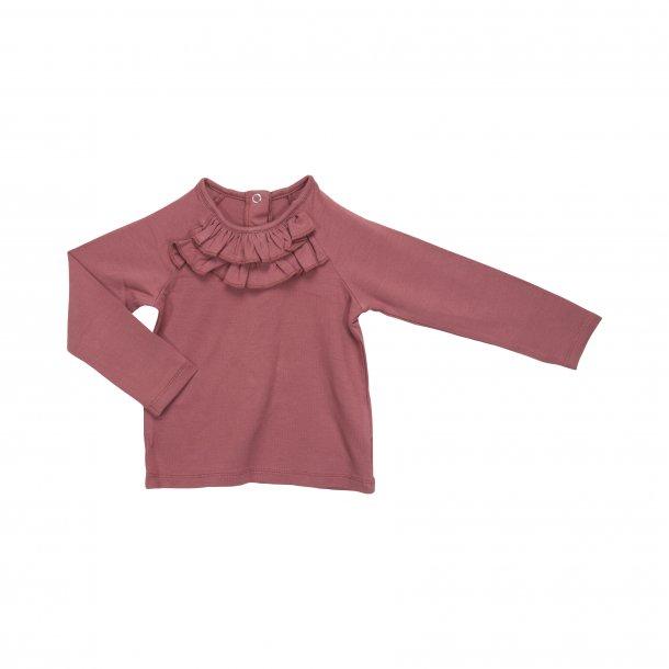 SOFIE SCHNOOR - Bluse med flæse i Rouge..