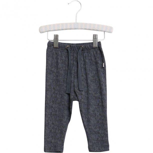 WHEAT - Baby bukser i print i Greyblue. Nicklas..