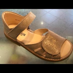 38704199b860 ANGULUS - Sandal med fast bagkappe i kobber glitter