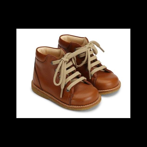 ANGULUS - Begynder sko med snøre i cognac