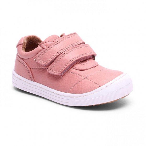 BISGAARD - Sneakers i peach skind