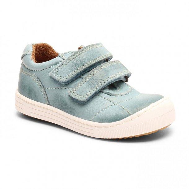 BISGAARD - Sneakers i sky blue skind