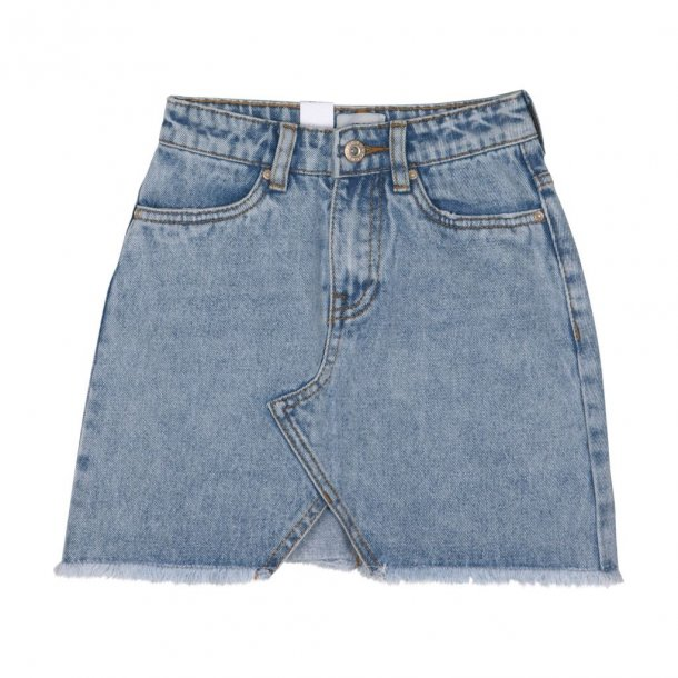 GRUNT - Nederdel i lys denim..