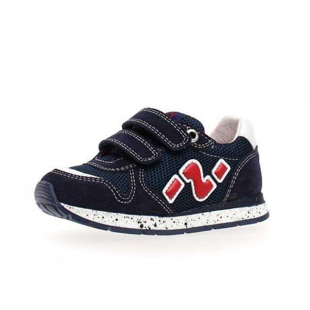 NATURINO - Sneakers i mørkeblå med rød
