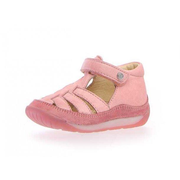 NATURINO - Begynder sandal i rosa skind