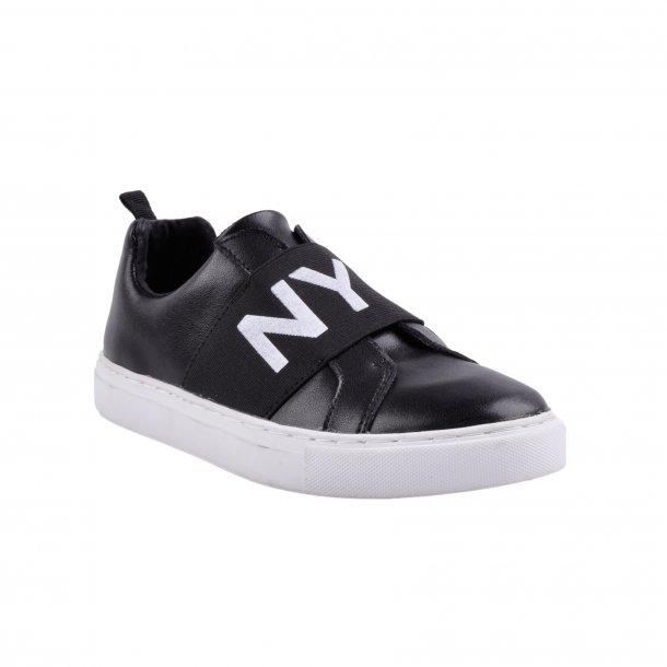 SOFIE SCHNOOR - Sneakers i sort skind. NYC