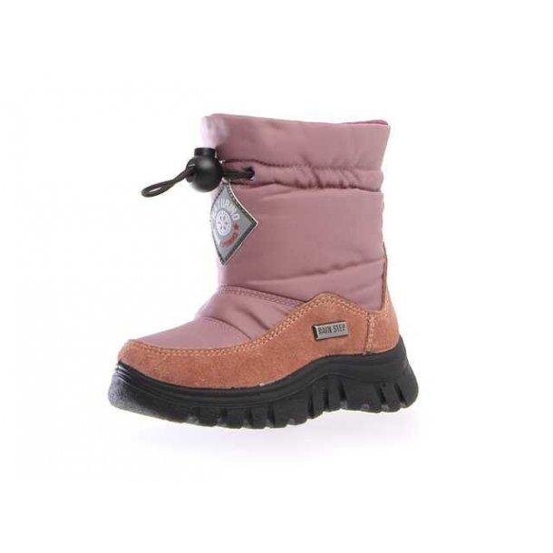 07b1e86f4224 NATURINO - Stik i støvle i gammelrosa med uldfoer og TEX - Støvler ...