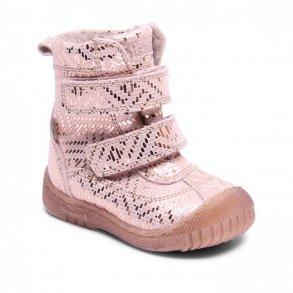 d5f4bd206d9 BISGAARD - TEX Støvle med uldfoer i copper metal skind med gummi på snuden