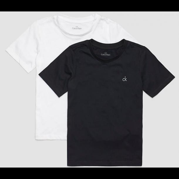 CALVIN KLEIN - 2 Pack t-shirt i sort og hvid