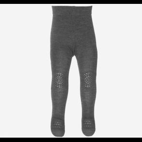 the best attitude fec3a 879f9 GO BABY GO - Mørkegrå melange strømpebuks med skridsikker fod og knæ