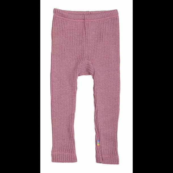 JOHA - Bukser i rosa i kraftig ribbet blød uld