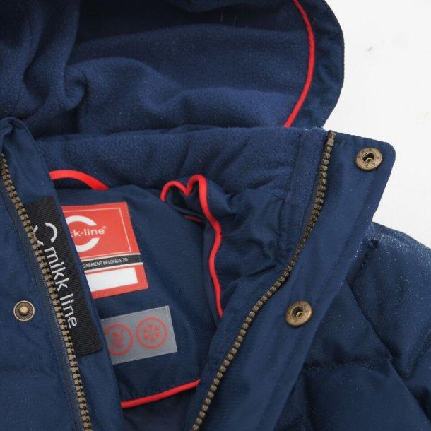 MIKKLINE - Vinterjakke med dun i mørkeblå