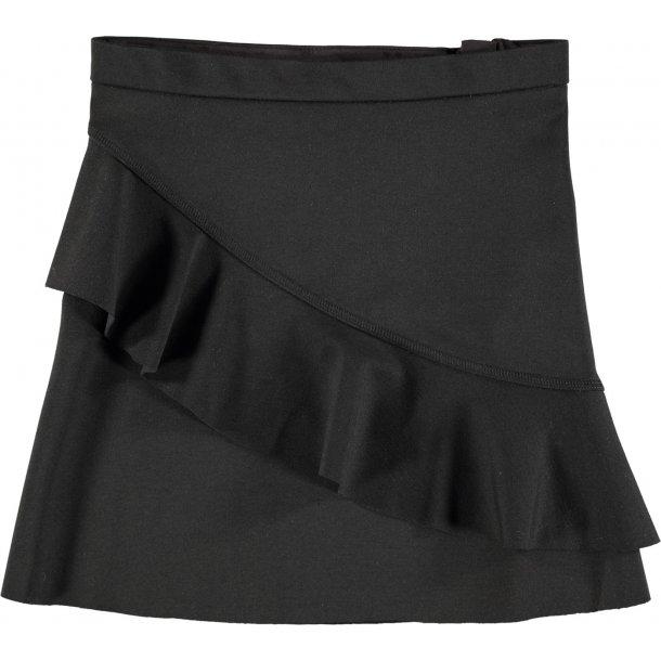 MOLO - Nederdel i sort med flæse. Breena..