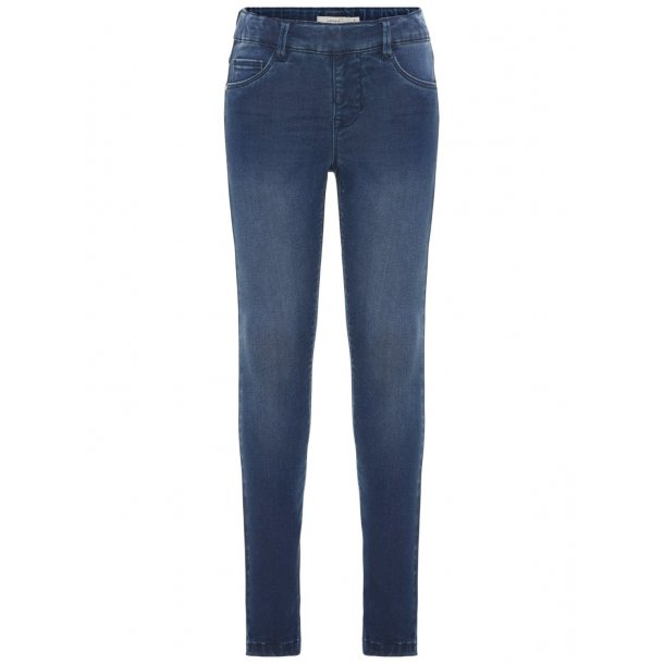 NAME IT - Jeggings i mørk vask. Pige. 13158696..
