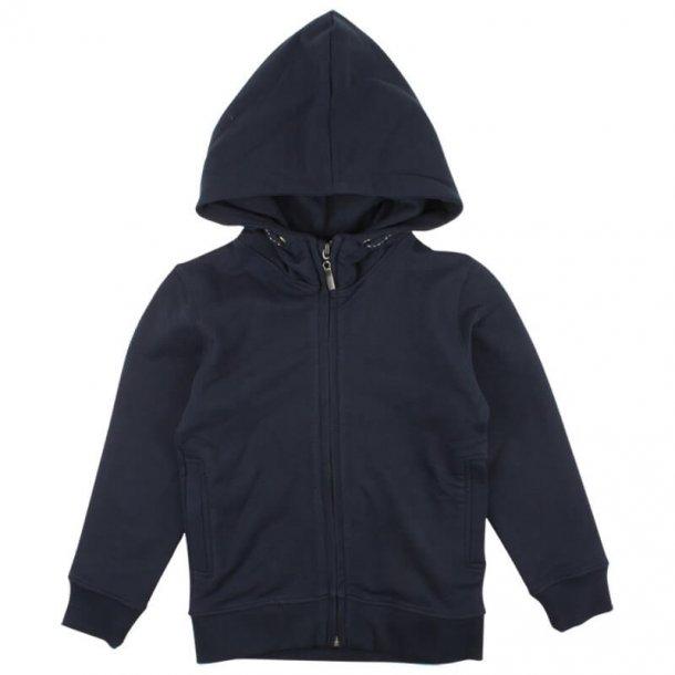NORDIC LABEL - Sweatshirt med hætte og zip i navy