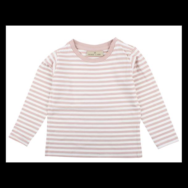 NORDIC LABEL - Bluse i rosa-creme stribet