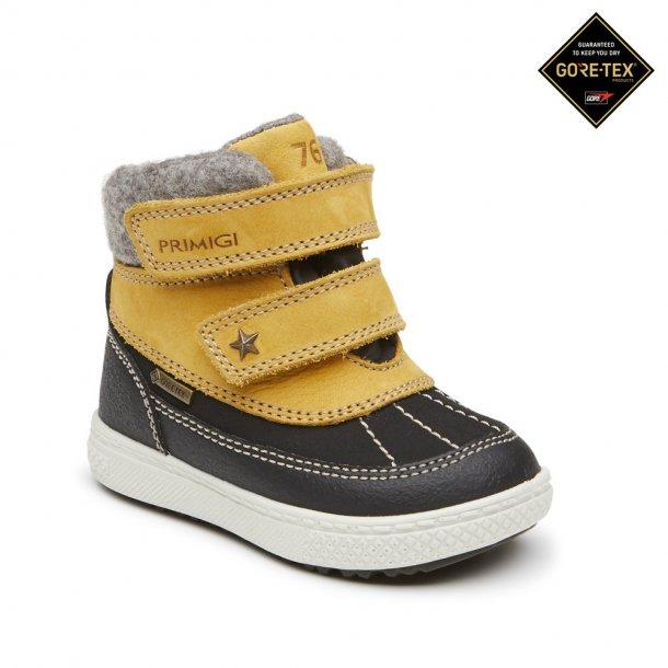 PRIMIGI - TEX støvle i sort med gul