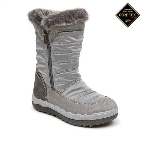 PRIMIGI - TEX støvle i grå-sølv med lynlås