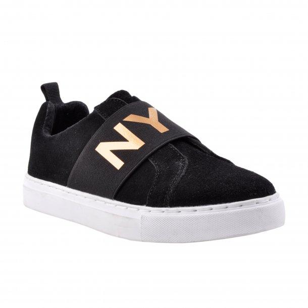 SOFIE SCHNOOR - Sneakers i sort ruskind. NYC