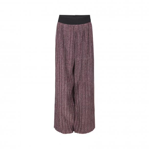 SOFIE SCHNOOR - Bukser i purple plisse glimmer..