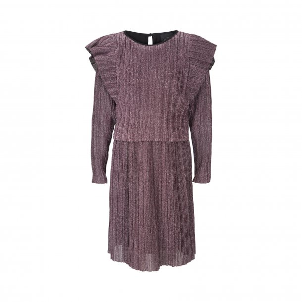 SOFIE SCHNOOR - Kjole i purple plisse glimmer..