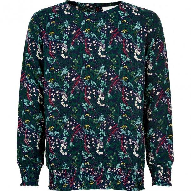 THE NEW - Skjorte i grøn-blomstret. Irene..