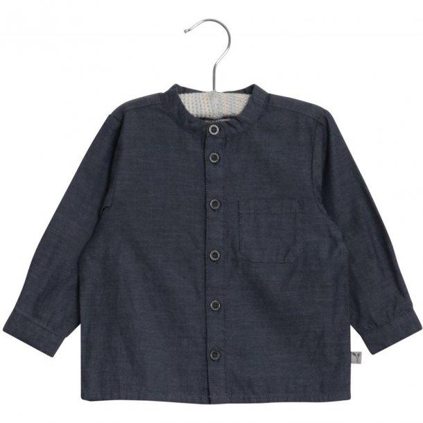 WHEAT - Baby skjorte i blue night chambray..