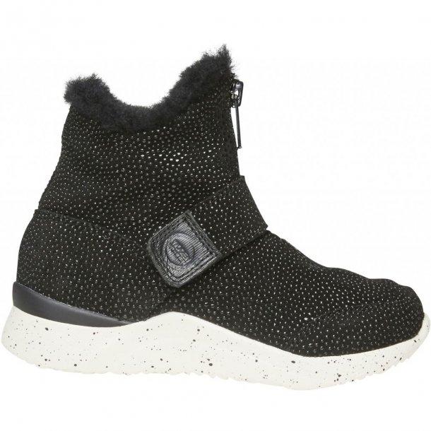 WODEN - Høj sneakers i sort med foer og eVent membran