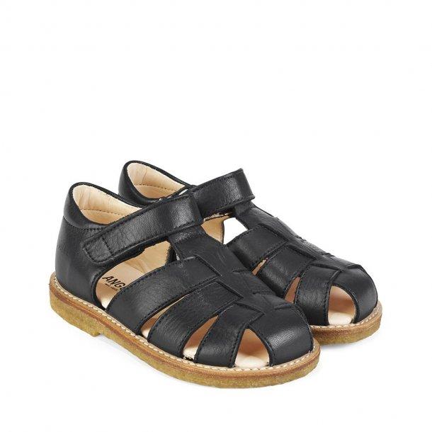 ANGULUS - Sandal i marineblåt skind NY