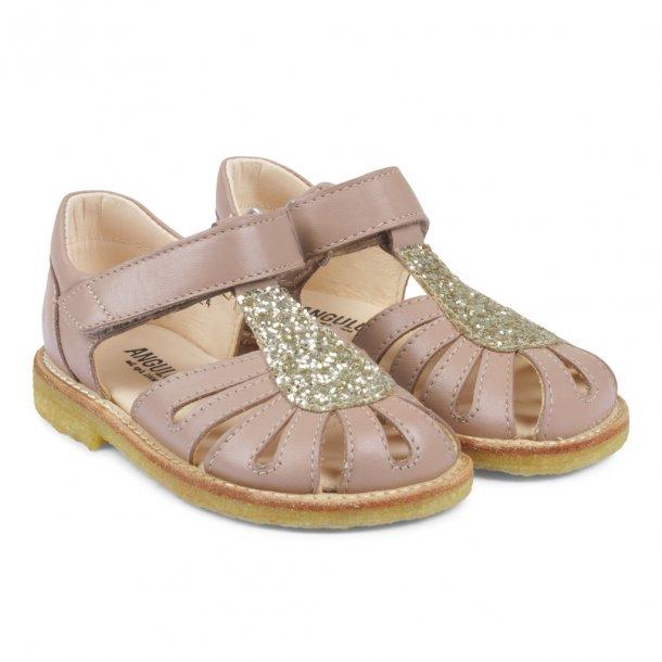 ANGULUS - Sandal lukket model i blomme og glitter..