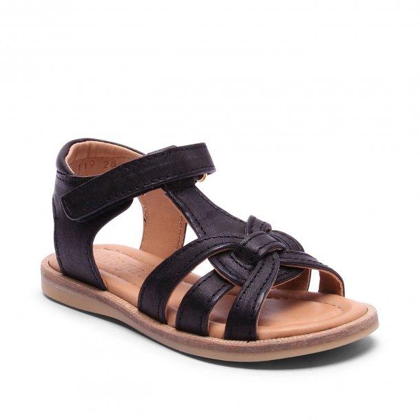 f60c9ff2a0f BISGAARD - Sandal i sort flet - Sandaler - Karl & Kalinka