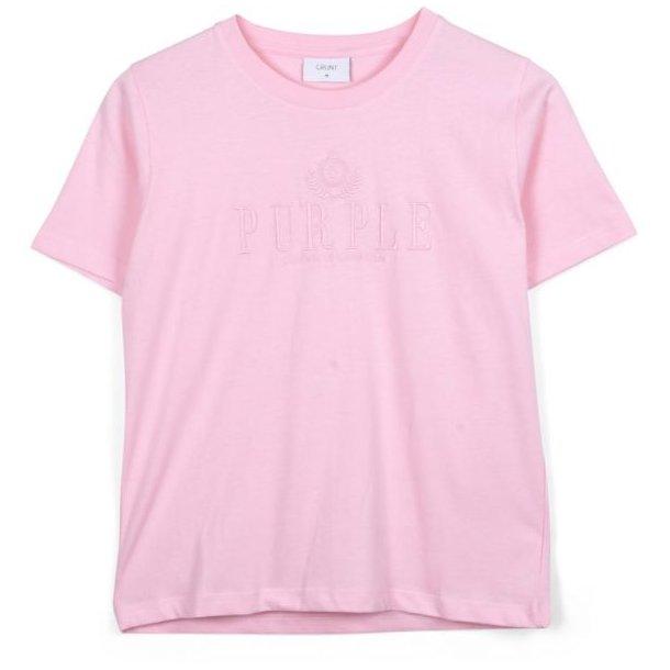 GRUNT - T-Shirt i rosa. Lisa